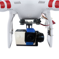 2 assi Gimbal Stabilizzatore 2-6 S Drone Aerea Fotografia Giunto Cardanico w/2204 Motori 5-28 V plug and Play PTZ per GoPro DJI Phantom 2