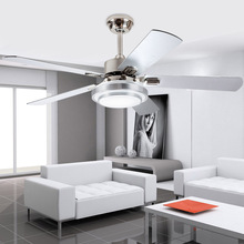 High quality Modern LED adjustable light ceiling fan iron fashion simple lamp 42 Inch  107 cm fan.
