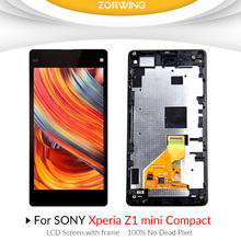 AAA quality lcd screen for sony Z1 compact M51w z1 mini D5503 LCD Display with Touch Screen digitizer assembly with frame
