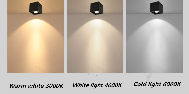 superfície montado ajuste led cob regulável downlights