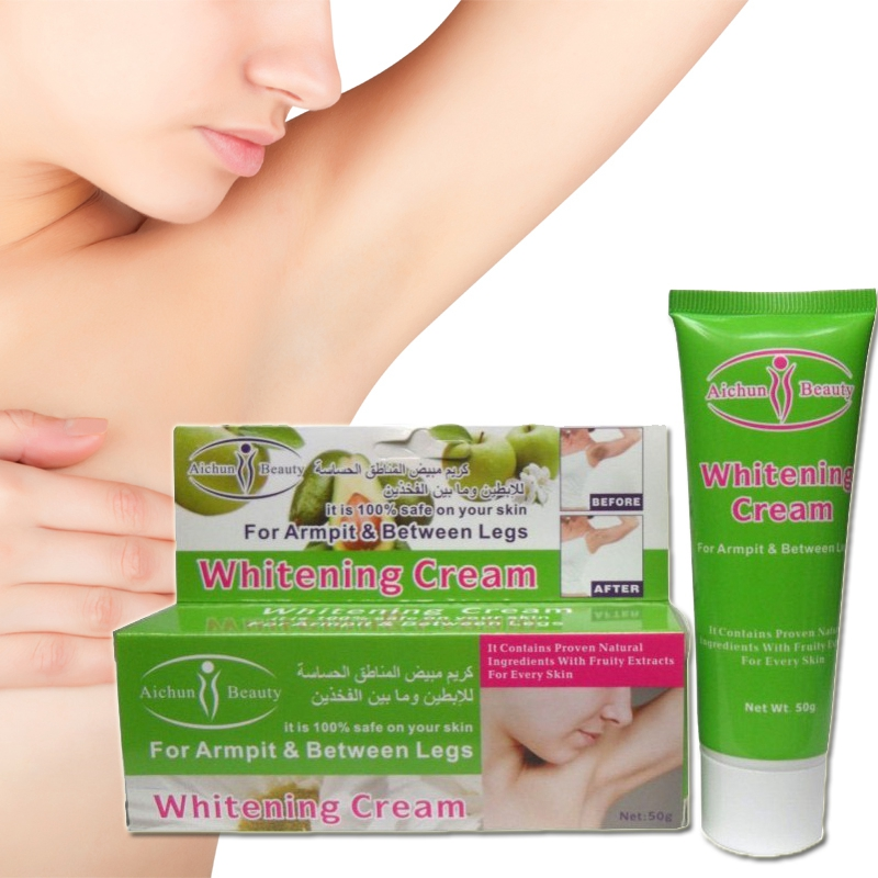 1pc Aichun Armpit Whitening Cream Underarm Whitening Cream Without Pain For Legs Knee Exfoliating Private Parts