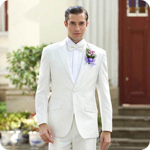 Summer White Men Suits For Wedding Suits Man Blazers Groom Wear Tuxedo Costume Homme 2Pieces Coat Pants Slim Fit Terno Masculino