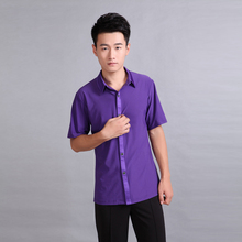 Manufacturers male Latin dance clothing game clothes coat performance costumes modern dance clothing men shirt