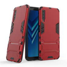 For Samsung Galaxy A7 Case 2018 Luxury Robot Hard PC Back Phone Cover