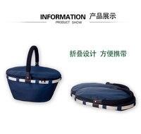Large Capacity Outdoor Picnic Bag Insulation Picnic Storage Basket Tableware Insulation Heat Packs