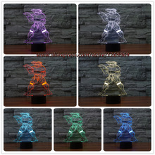 font b 2017 b font 3D Cartoon Figure Mutant Ninja Turtles Nunchakus lamp 7 Colors