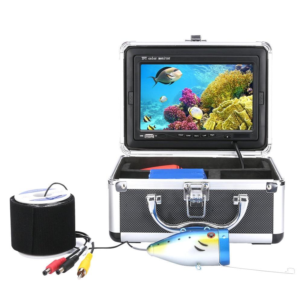 Профессиональный 20 м 30 м 7 цветов цифровой ЖК-дисплей 1000tvl подводный Рыбалка Камера Рыболокаторы HD DVR Регистраторы инфракрасный ИК-светодиод...