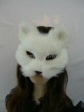 Maskovací masky realistický zvířecí rekvizity hračka halloween party kožešina líška maska
