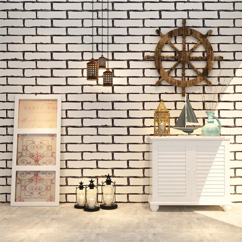 ФОТО HANMERO 3D Vantage Chinese Style Vinyl Wallpaper White Brick Pattern Wallpaper Home Decoration QZ0224