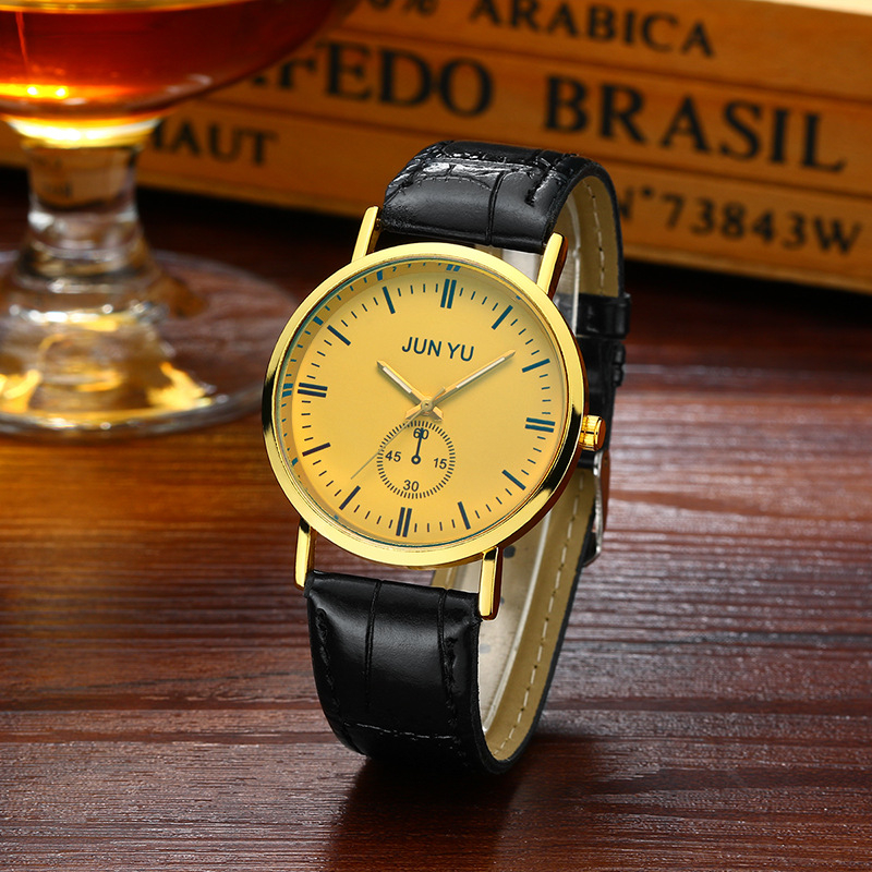 Casual Mens Watches Top Brand Luxury Sport Quartz Watch Leather Strap Clock Men Waterproof Wristwatch relogio