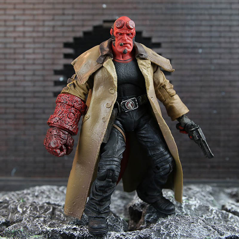 18cm MEZCO Hellboy Series Includes Samaritan Handgun Anung Un Rama Mike Mignola Baby Variant Comic Movie Toys Doll for kids gift image