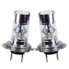 2Pcs Car LED Light Bulb High Power H7 2835 60W Fog Lamp Headlamp 360 Degree Automotive Car Daytime Running Light Auto DRL
