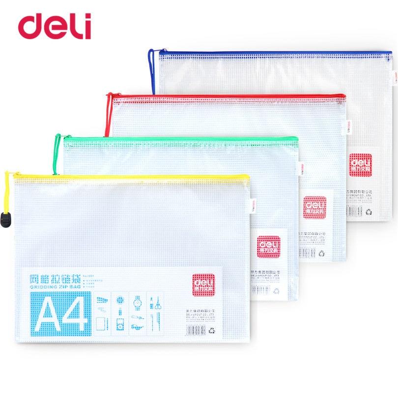 Deli Papel A4 File Folder Statioenry Document Bag School & Office Supplies Waterproof Document Folder For Business File Folder