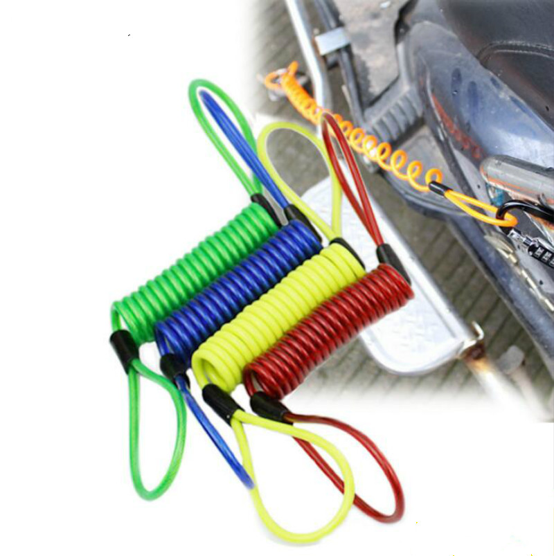 150cm Alarm Disc Lock Security Anti Thief Motorbike Motorcycle Wheel Disc Brake Bag And Reminder Spring Cable