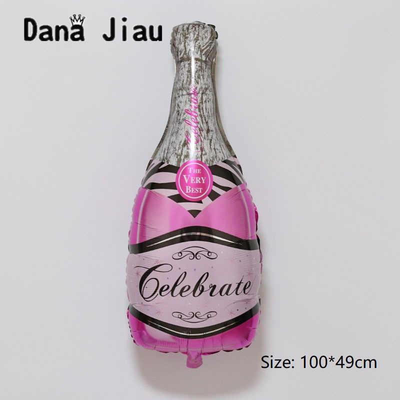 36 дюймов Большой для бутылок вина шампанского чашка Свадьба юбилей вечерние надувной шар из алюминиевой фольги украшения подарок надувной воздушный шар