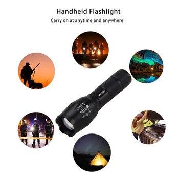 إضاءة صيد أحمر/أخضر زوومابلي 3000LM 18650 LED التكتيكية مصباح التركيز مصباح شعلة