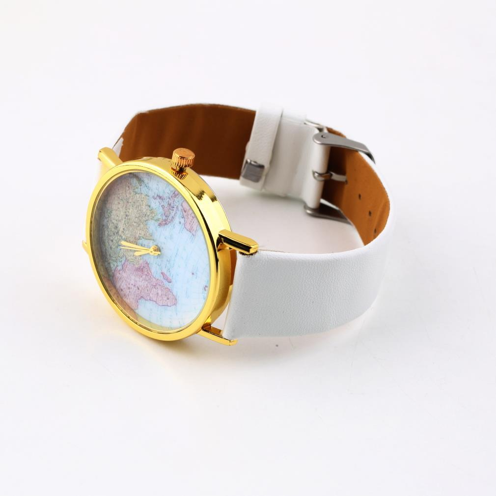 Outad fashion women female girl watch synthetic leather alloy outad fashion women female girl watch synthetic leather alloy world map globe analog quartz retro wrist watches 4 styles relogio in womens watches from gumiabroncs Image collections
