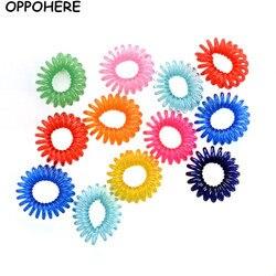 Gum-Bracelets fils de téléphone élastiques | 12 pièces, Bracelets de cheveux élastiques, anneaux en caoutchouc, Bracelets à accessoires pour cheveux