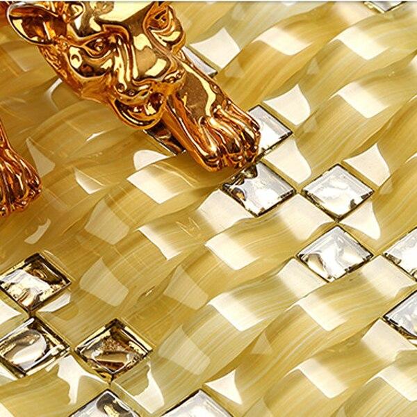 Kristall Arch Design Glas Fliesen Backsplash Ideen Schillernden Glas Wand  Chips Hintergrund Mosaik Kunst Decor Schneiden