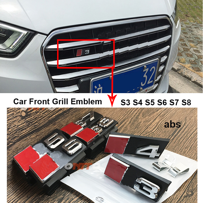 100% Brand New And High quality Car Styling Metal 3D Car Body Emblem Sticker GTI Car Front Grill Emblem Auto accessories