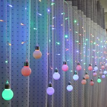ФОТО 3.5m 96leds holiday decoration wedding supplies background layout led lights