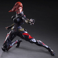 PLAY ARTS 27cm Marvel Avengers Black Widow Action Figure Model Toy