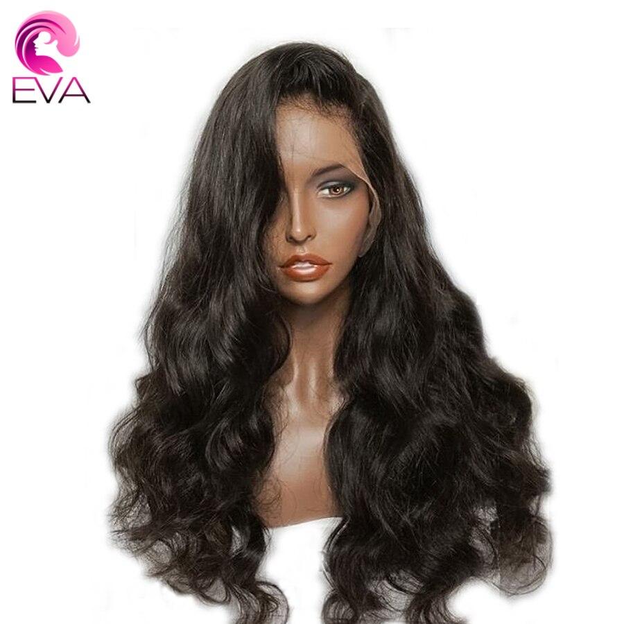 360 Dentelle Frontale Perruques Avec Bébé Cheveux Brésiliens Corps Vague 180% densité Avant de Lacet Perruques de Cheveux Humains Pré Pincées Remy Eva cheveux