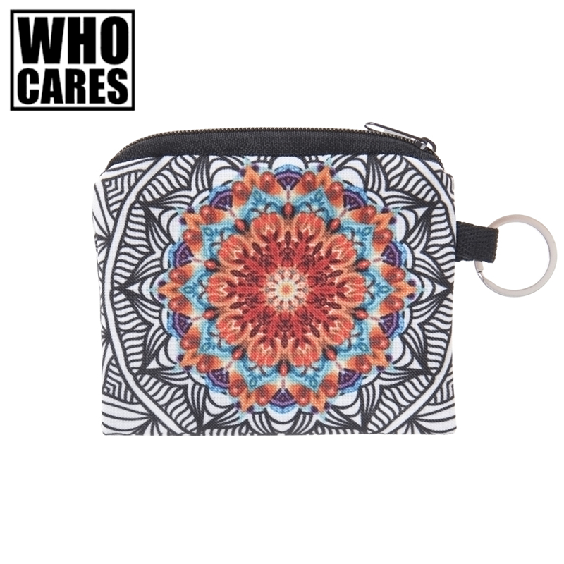 Mandala Collection Mini Square Wallet Pouch Ombre Prints Women Purse Holder Small Zipper Coin Purse Fashion Female Keys Bags flamingo beach mini square wallet 2017 who cares fashion prints women purse holder small zipper coin purse female money bags