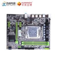 HUANAN Чжи X79 6M материнской X79 для Intel LGA 2011 E5 2660V2 2680V2 DDR3 1333/1600/1866 MHz 64 GB SATA3.0 USB3.0 M ATX плата