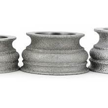 Brazing diamond grinding wheel grinding stone for glass ceramics marble concrete floor Begonia semicircle edge shaping GJ012 high quality inner segmented diamond wheel 150 8 10 diamond wheel for glass straight edge machine and double edge machine