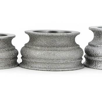 цена на Brazing diamond grinding wheel grinding stone for glass ceramics marble concrete floor Begonia semicircle edge shaping GJ012