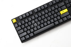 Image 5 - Cherry profile Dye Sub Keycap Set thick PBT plastic black yellow gentleman for gh60 xd64 xd84 xd96 tada68 87 104 razer corsair