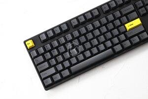 Image 5 - Kirsche profil Dye Sub Keycap Set dicken PBT kunststoff schwarz gelb gentleman für gh60 xd64 xd84 xd96 tada68 87 104 razer corsair