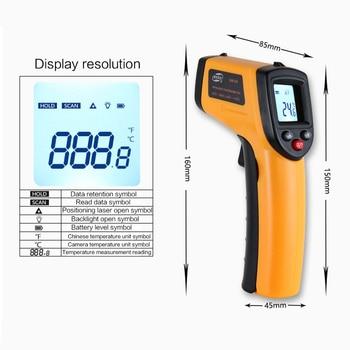 1pc Point -50 ~ 380º Termòmetre sense contacte GM320 Làser LCD digital IR infrarojos termòmetre Mesurador de temperatura