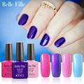 Belle Fille 6 Pcs Gel Varnish 79 Colors Nail Gel Polish Blue Purple Coat UV LED Bling Glitter Manicure Vernis Semi Permanent Gel