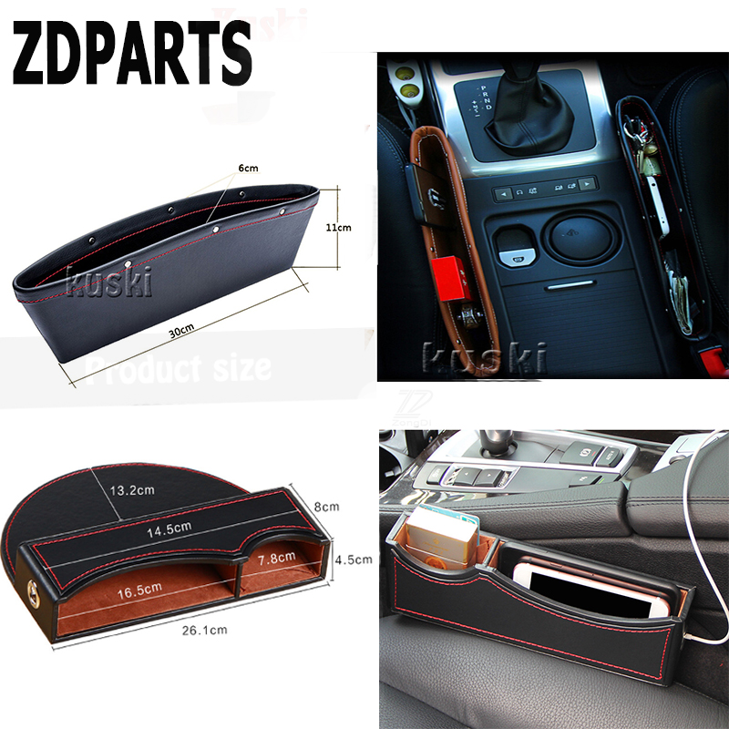 ZDPARTS 1X Car Seat Crevice Storage Box Organizer Gap Holder For Audi A3 A4 B7 B8 B6 A6 C6 C5 Q5 Nissan Qashqai Juke X trail|storage box car|holder for|holder for car - title=