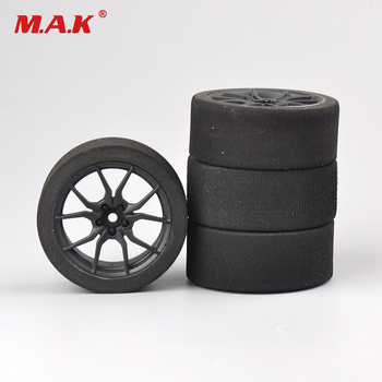 цена на 4pcs/set racing foam tire wheel rim set for HSP HPI 1/10 on-road RC car 12mm hex RC racing cars parts accessories