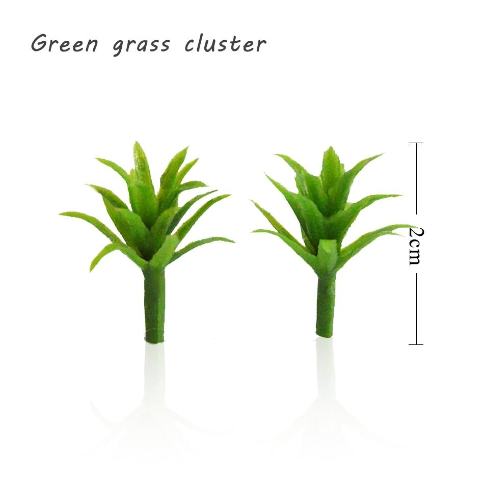 2CM escala ABS DIY planta de plástico grama artificial para a construção arquitetônica layout de trem brinquedos Verde tomada de tronco de árvore paisagem