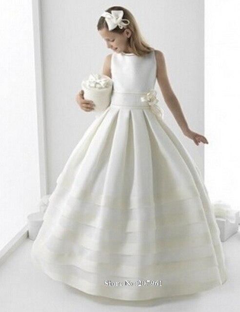 fc53865ca Gardlilac 2017 First Communion Dresses For Girls Little Flower Girls Dresses  Baby Party Kids Prom Dresses