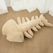 Fancytrader Big Cute Realistic Fish Bone Plush Pillow Stuffed Soft Cartoon Fish Shape Cushion Toy Gift Decoration