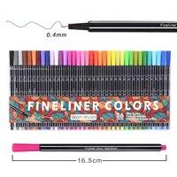 0 4 Mm 36pcs Colors Fineliner Pens Art Markers Watercolor Sketch Manga Point 88 Super Fine