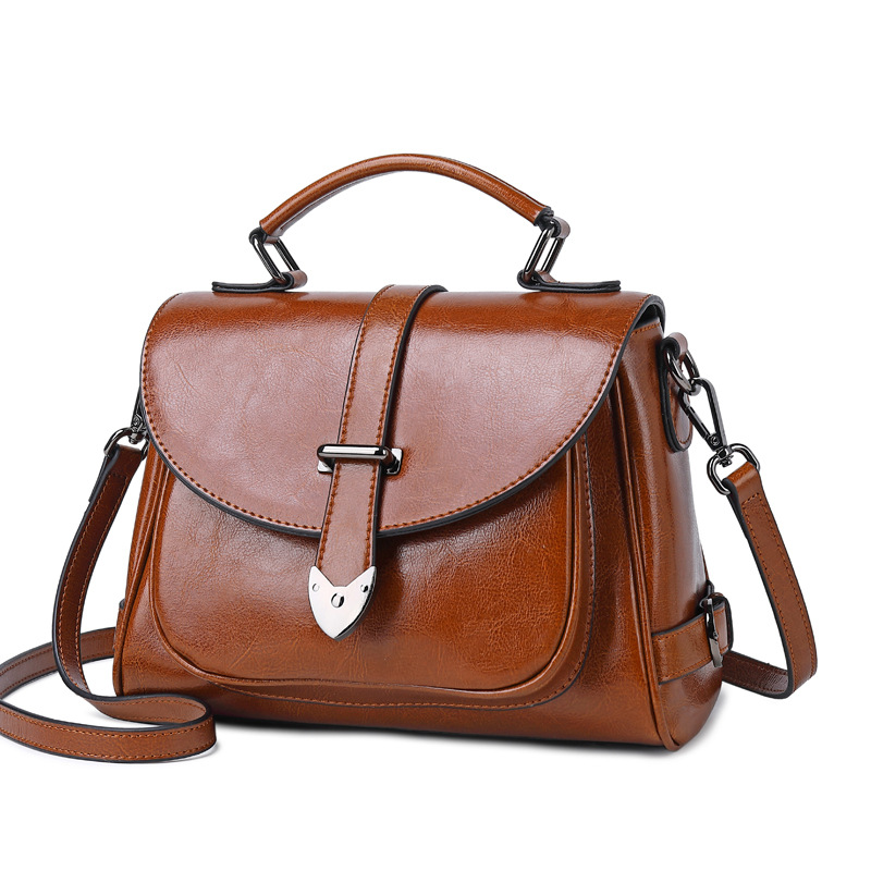 Brand Women Genuine Leather Tote Bag Female Fashion Vintage Real Leather Handbags Pillow Bag Small Shoulder Bags
