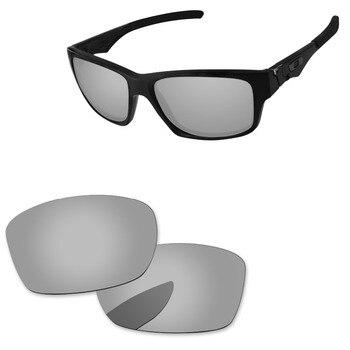 4067a6119b Cromo espejo de plata polarizadas lentes para Júpiter cuadrado gafas de sol  marco 100% UVA y UVB protección