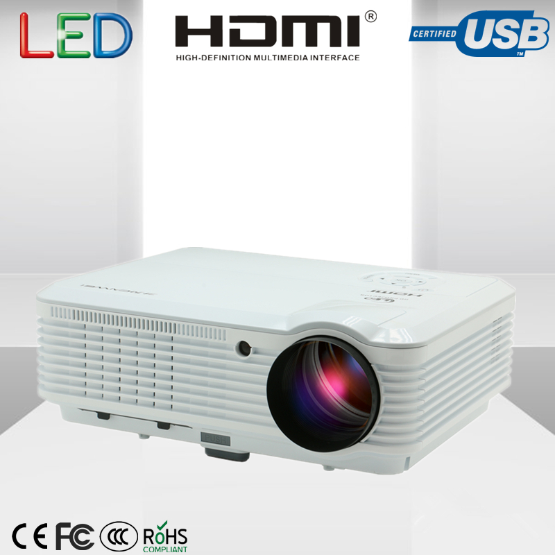 HD Projector Home Theater Cinema LCD Projector 4500 Lumens 1280X800 Resolution with HDMI USB WUXGA VGA AV interface projector