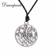 Bijoux gothiques pour hommes, bijoux avec pendentif cheval, sautoir, sautoir, amulette