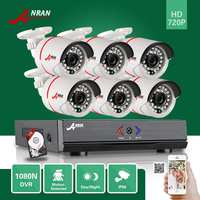 ANRAN 8CH HD 1080N AHD DVR 1 0MP Outdoor IR Home Surveillance AHD Security Camera System