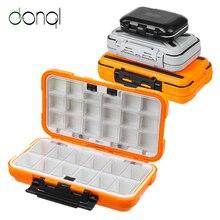 DONQL Fishing Tackle Box Waterproof Double Side Bait Lure Ho