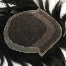 Hstonir Для мужчин S конский волос Замена системы натуральных волос Стиль волос Для мужчин Наращивание натуральных волос 120% плотность H065