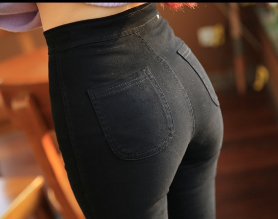 18 New Fashion Jeans Women Pencil Pants High Waist Jeans Sexy Slim Elastic Skinny Pants Trousers Fit Lady Jeans Plus Size 7