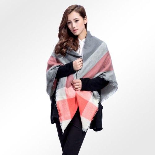 2017 Women Blanket Oversized Tartan   Scarf     Wrap   Shawl Plaid Cozy Checked Pashmina